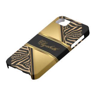 iPhone 5 Elegant Classy Gold Zebra iPhone 5 Covers