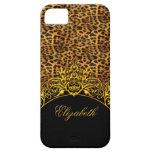 iPhone 5 Elegant Classy Leopard Print Black Gold iPhone 5 Cover