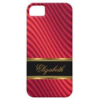 iPhone 5 Elegant Classy Red Gold Black iPhone SE/5/5s Case