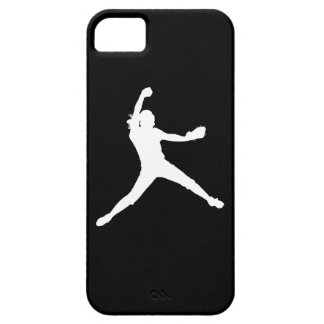 iPhone 5 Fastpitch Silhouette White on Black iPhone SE/5/5s Case