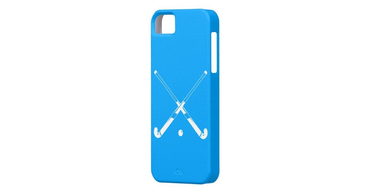 iPhone 5 Field Hockey Silhouette Blue iPhone SE/5/5s Case ...