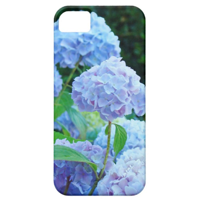 iPhone 5 floral cell phone covers Blue Hydrangeas