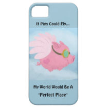 Iphone 5 Flying Pig Cover