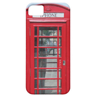 iPhone 5: Foto roja clásica de la cabina de iPhone 5 Carcasas