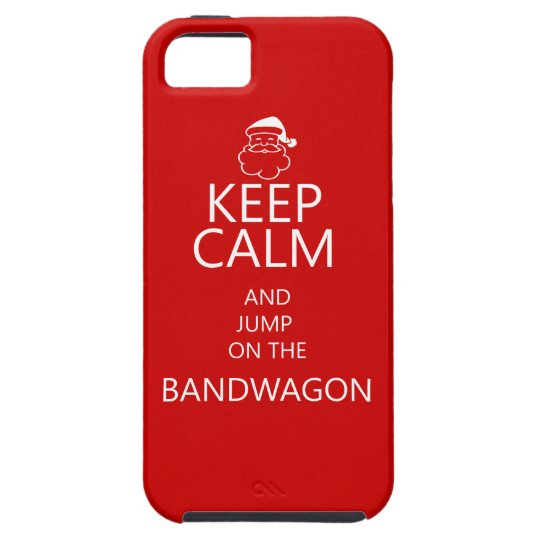 iPhone 5 fun christmas case with Keep Calm