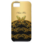 iPhone 5 Gold Black Butterfly iPhone 5 Cases