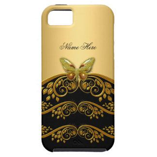 iPhone 5 Gold Black Butterfly iPhone SE/5/5s Case