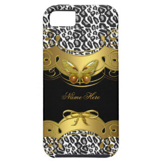 iPhone 5 Gold Black White Butterfly Animal iPhone SE/5/5s Case