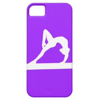 iPhone 5 Gymnast Silhouette White on Purple iPhone SE/5/5s Case