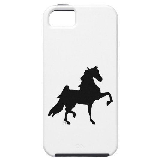 iPhone 5 hard shell cover with horse silhouette