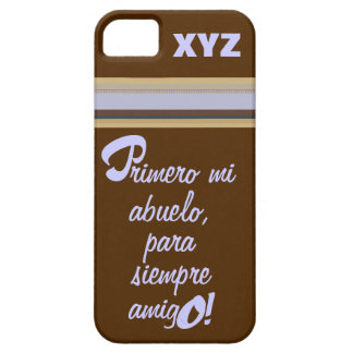iphone 5 His Initials-Grandfather/Abuelo iPhone SE/5/5s Case