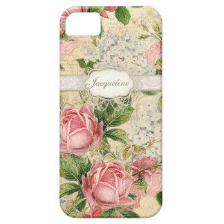 IPhone 5 - Hydrangea color de rosa inglés del cord iPhone 5 Funda