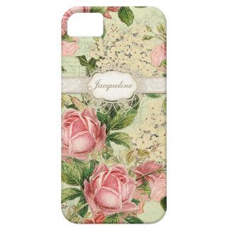 IPhone 5 - Hydrangea color de rosa inglés del iPhone 5 Fundas