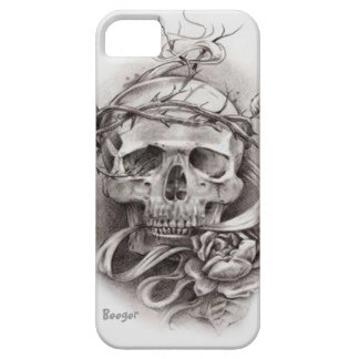 Iphone 5 ID - Skull with Crown of Thorns iPhone 5 Cases