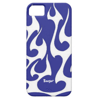 Iphone 5 ID - White Flames Old Skool iPhone 5 Case