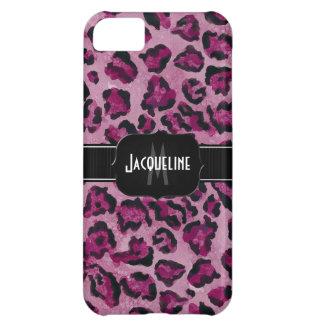 IPhone 5- Jaguar Leopard Print Animal Skin w Name iPhone 5C Cover