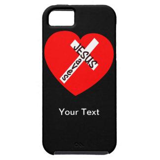 iPhone 5 - Jesús ahorra - su texto - la plantilla iPhone 5 Case-Mate Fundas