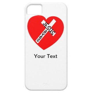 iPhone 5 - Jesús ahorra - su texto - la plantilla iPhone 5 Case-Mate Protectores
