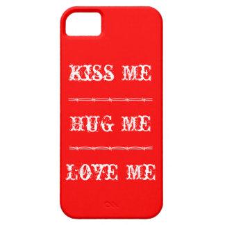 iPhone 5 Kiss Me, Hug Me, Love Me iPhone SE/5/5s Case