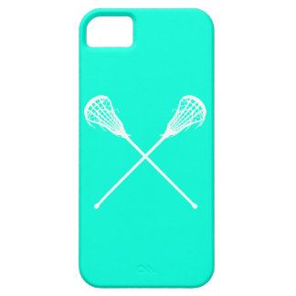 iPhone 5 Lacrosse Sticks Turquoise iPhone SE/5/5s Case