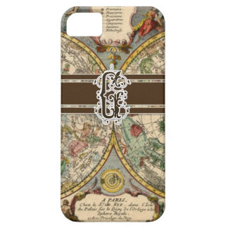 IPhone 5 Letter G Monogrammed Vintage Nautical Map iPhone 5 Case