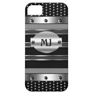 iPhone 5 Metal Studs look Chrome Mens iPhone SE/5/5s Case