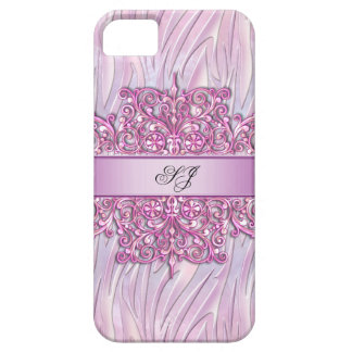 iPhone 5 or 4 Zebra Damask Pretty Pink iPhone 5 Cases