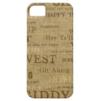 IPhone 5 palabras del vaquero de la arpillera de iPhone 5 Funda