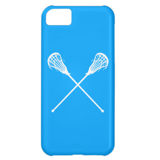 iPhone 5 palillos de LaCrosse azules Funda Para iPhone 5C