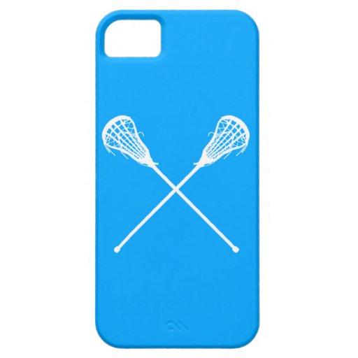 iPhone 5 palillos de LaCrosse azules Funda Para iPhone SE/5/5s