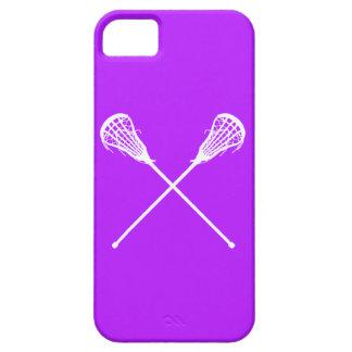 iPhone 5 palillos de LaCrosse púrpuras iPhone 5 Funda