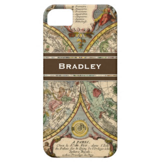IPhone 5 Personalized Name Vintage Nautical Map iPhone 5 Case