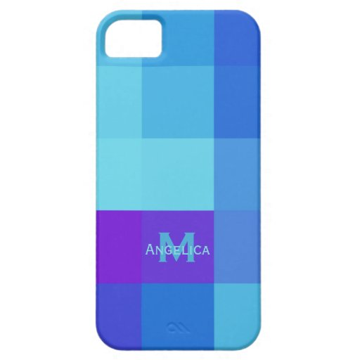 iPhone 5: Personalized : Shades Of Blue Case iPhone 5 Cover