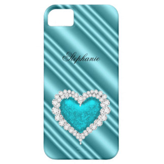 iPhone 5 Princess Silver Teal Bejeweled iPhone 5 Cover