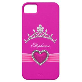 iPhone 5 Princess Silver Tiara Hot Pink Bejeweled iPhone 5 Case