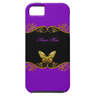 iPhone 5 Purple Gold Black White Butterfly iPhone SE/5/5s Case