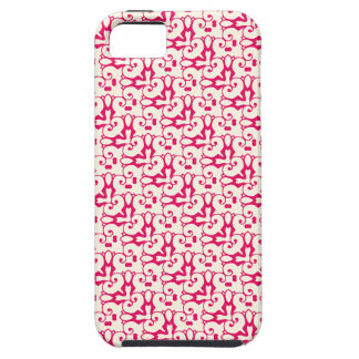 iPhone 5 raspberry red & cosmic latte pattern case iPhone 5 Cases