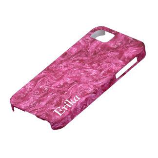 iPhone 5 regalos peludos rosados femeninos del iPhone 5 Fundas