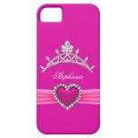 iPhone 5 rosas fuertes de princesa Silver Tiara Funda Para iPhone SE/5/5s