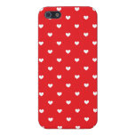 iPhone 5 Savvy Case Red & White Hearts Patterned Case For iPhone 5