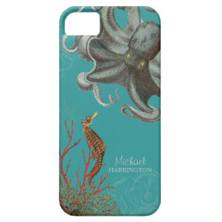 IPhone 5 - Sea Horse Octopus Red Coral Etchings iPhone 5 Covers