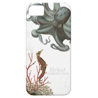 IPhone 5 - Sea Horse Octopus Red Coral Etchings iPhone SE/5/5s Case