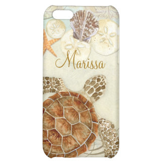 Iphone 5 - Sea Turtle Coastal Beach Sea Shells iPhone 5C Cover