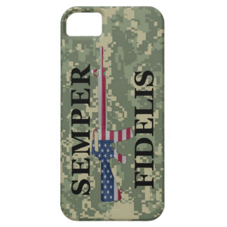 iPhone 5 Semper Fidelis Camo verde Funda Para iPhone 5 Barely There