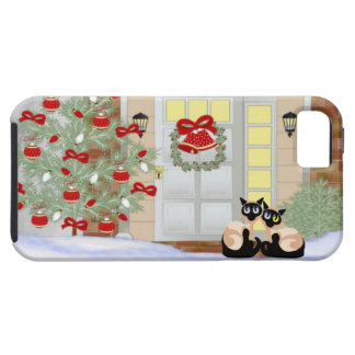 iPhone 5 Siamese Cats Christmas iPhone SE/5/5s Case