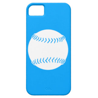 iPhone 5 Softball Silhouette White on Blue iPhone SE/5/5s Case
