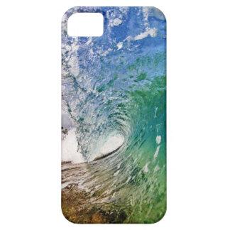 Iphone 5 sombras del caso de foto azul de la ola o iPhone 5 fundas