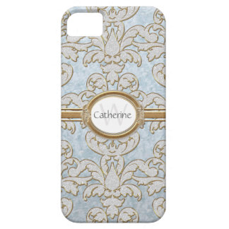 Iphone 5 Sparkle Floral Leaf Damask Personalized iPhone 5 Covers