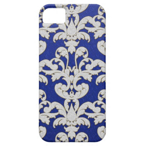 Iphone 5 Sparkle Floral Leaf Damask Swirl Pattern iPhone 5 Cases
