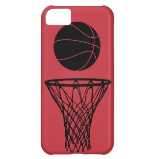iPhone 5 toros de la silueta del baloncesto rojos